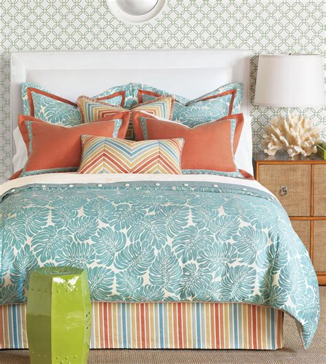 turquoise and coral bedding luxury bedding by eastern accents capri collection