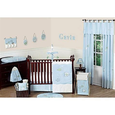 Sweet Jojo Designs Go Fish 11 Piece Crib Bedding Set Fishing Crib Bedding