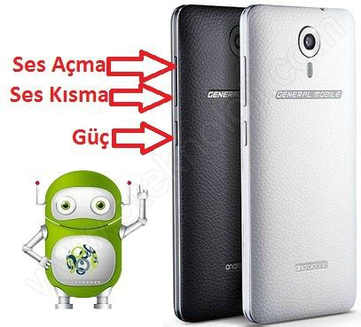 reset android one general mobile 4g hard reset sıfırlama android one