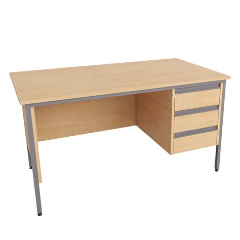 Pedestal Desks by Single Pedestal Desk 3 Drawer