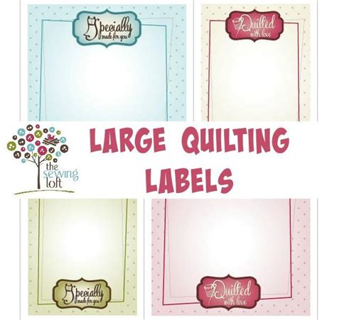 printable quilt labels patterns large quilt labels by the sewing loft craftsy