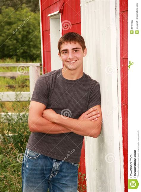 cute country boy senior portrait stock photos image
