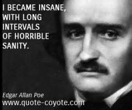 edgar allan poe brief biography edgar allan poe quotes insanity quotesgram