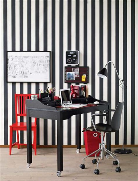 black home office black and white red accents home office design decosee com