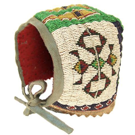 beadwork sioux sioux beaded baby bonnet
