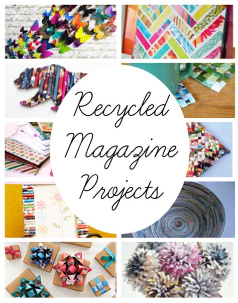 magazine craft projects diy home sweet home recycled magazine projects diy