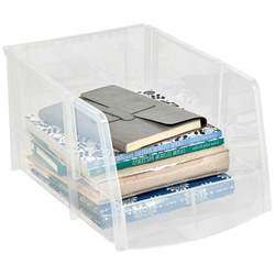 clear stackable storage containers clear plastic stacking bin in plastic storage bins