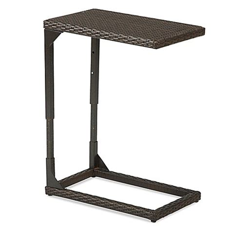wicker accent table barrington wicker adjustable c shaped accent table bed