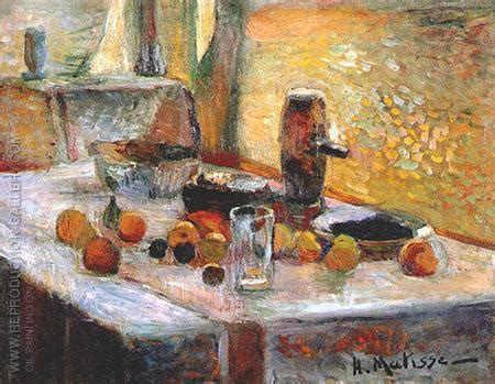 first orange still life early 1899 by henri matisse oil