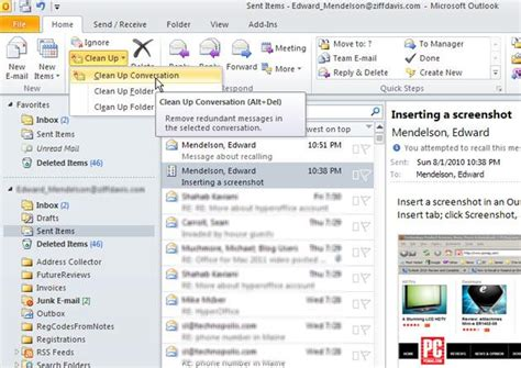 Outlook 2010 Not Searching All Emails Ten Forward Looking Microsoft Outlook 2010 Tips Slide 4 Slideshow From Pcmag