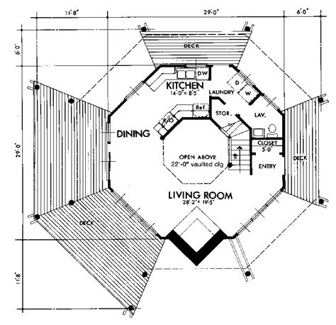 Small Octagon House Plans by Small Octagon House Plans Octagon Mansion Floor Plan