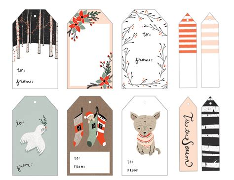 20 gorgeous sets of free printable gift tags lines across
