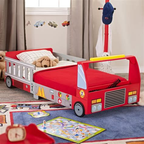 firetruck toddler bed kidkraft fire truck toddler bed www