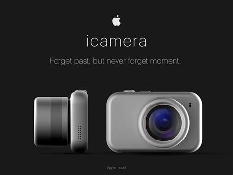 icamera   apple inspired concept mirrorless camera