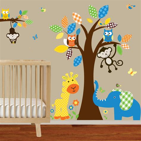 Wall Decals For Boy Nursery Boy Nursery Wall Decal Jungle Decals Baby Nursery Decals Polka