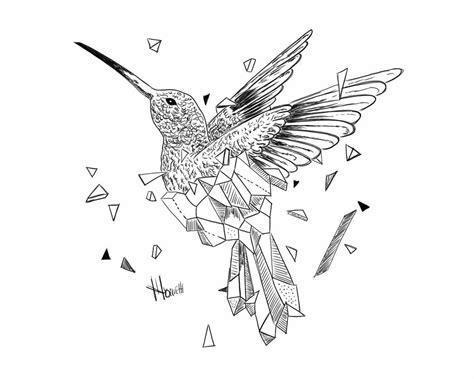 geometric hummingbird tattoo geometric bird by longaritmoden on deviantart