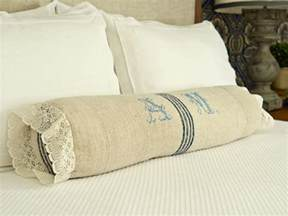 how to sew a bedroom bolster pillow hgtv