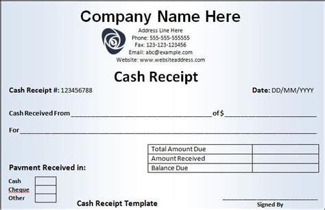 Cash Receipt Template Free Word Templates Paid Receipt Template