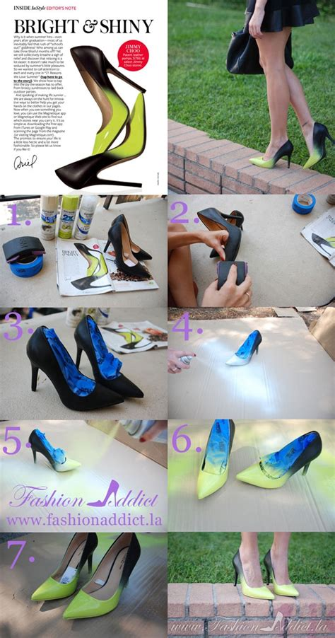 diy ombre shoes diy jimmy choo ombre shoes kier couture