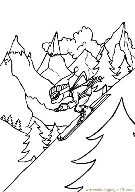 coloring pages winter sports coloring page 07 sports