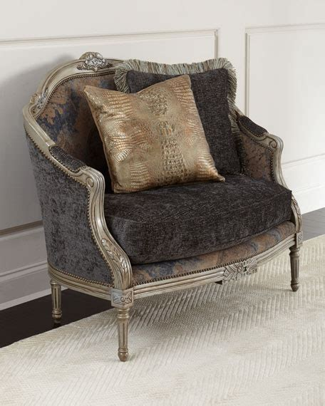 horchow settee massoud tiger lily settee