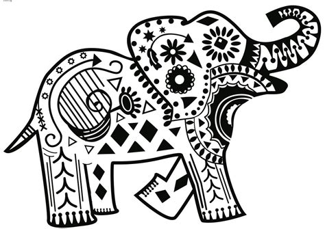 printable coloring pages for adults elephant download elephant coloring pages for adults