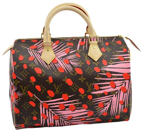 louis vuitton speedy  monogram jungle shopper tote bag