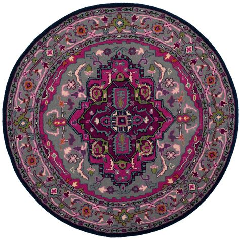 5 ft rugs safavieh bellagio gray pink 5 ft x 5 ft area rug