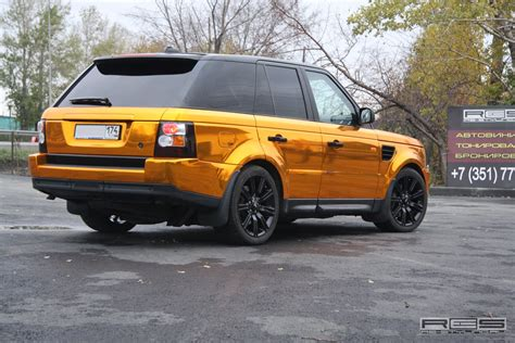wrapped range rover golden wrap for range rover sport autoevolution