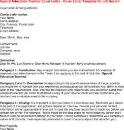 special education cover letter exles special education resume cover letter writefiction581