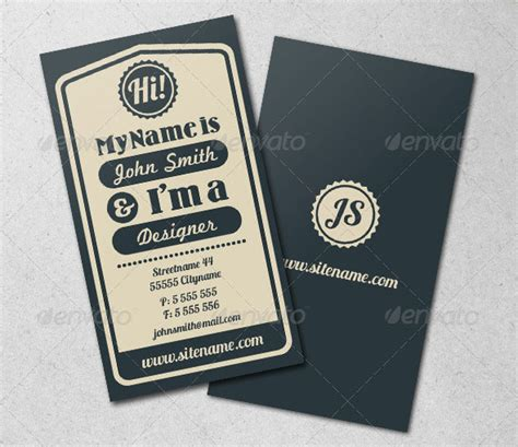 vintage name card template 25 cool psd retro vintage business card templates