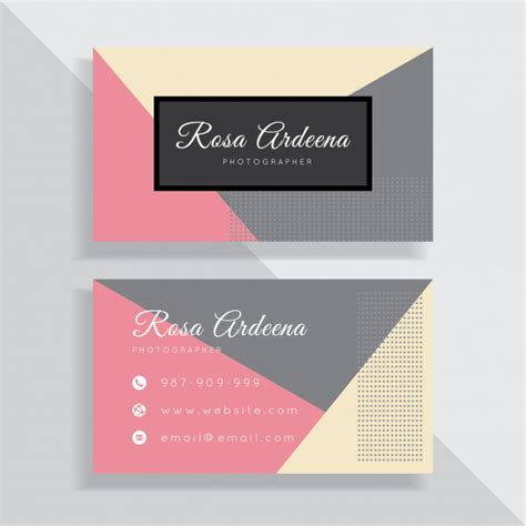 pastel color card templates pastel color business card template design vector