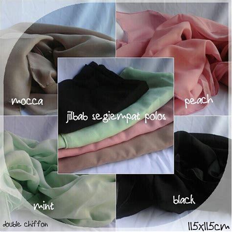 Jilbab Segi Empat Polos jilbab segiempat polos produsen jilbab jogja butik destira