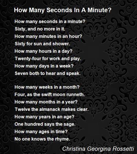 seconds   minute poem  christina georgina rossetti poem hunter