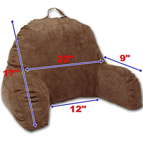 best bed rest pillow with arms microsuede bedrest pillow brown best bed rest pillows