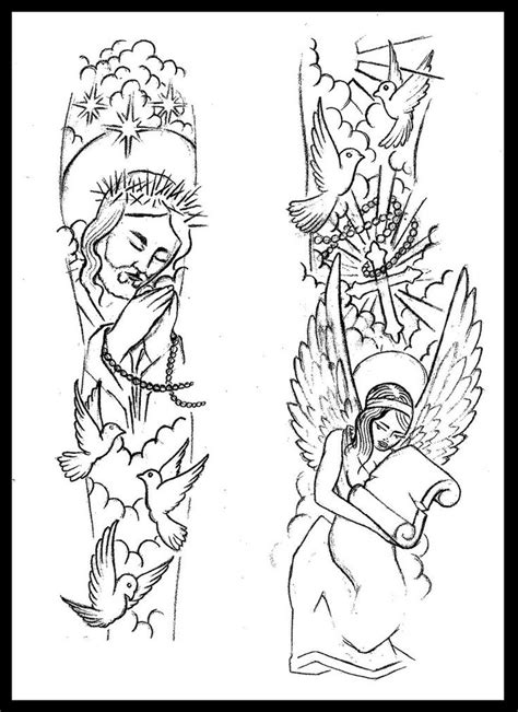 tattoo sketches for men 25 best ideas about religious sleeves on