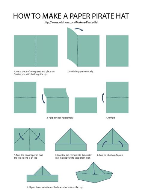 How To Fold A Paper Pirate Hat - 25 best ideas about paper hats on paper hat