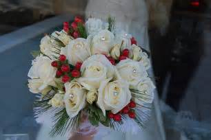 Christmas themed wedding bouquet flickr photo sharing