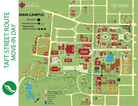 louisiana college map ul lafayette move in central office of housing