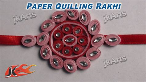 How To Make Rakhi With Paper - diy paper quilling rakhi for raksha bandhan how to make
