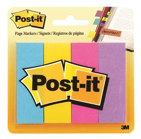 Pos It 3m Page Marker Signets 3m post it page marker 671 4au 4colors 3 4 x 2 office warehouse inc