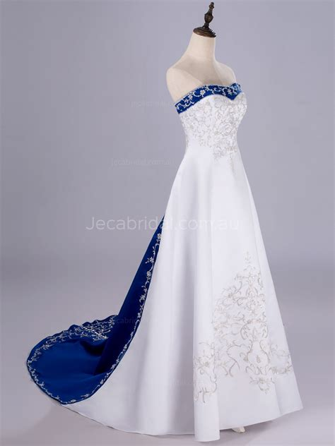 Two Tone Embroidered Satin Wedding Dress W80 W Is For Watermelon