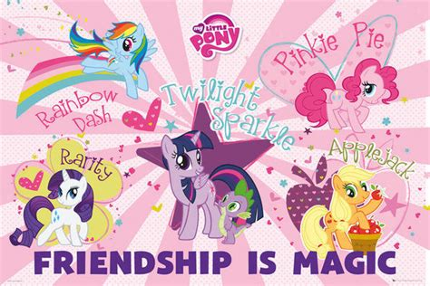 my little pony friendship is magic heartwarming tv tropes my little pony tv show poster print friendship is