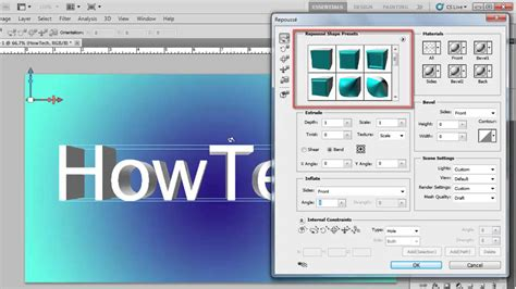 photoshop cs5 tutorial 3d text with a drop shadow youtube how to create 3d text in photoshop cs5 youtube