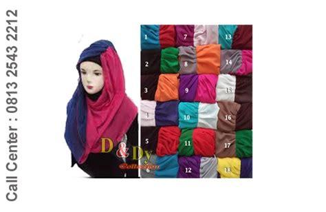 jilbab april dua warna dndy collection pusat