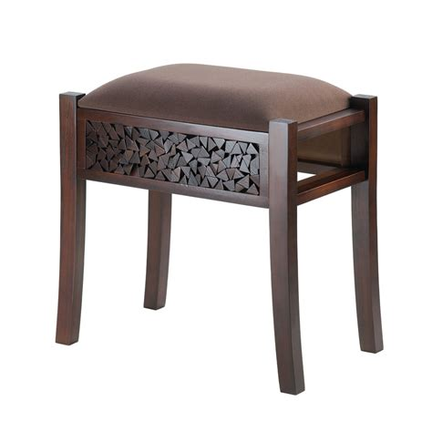Padded Stool by Rectangle Wood Padded Foot Vanity Stool Hardwood Padded