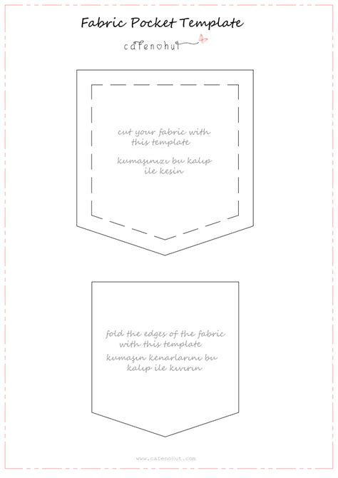 pocket template for sewing fabric pocket template pdf sewing ideas