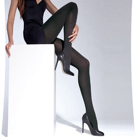 patterned opaque tights black matt patterned opaque tights with shiny dots quot qushi