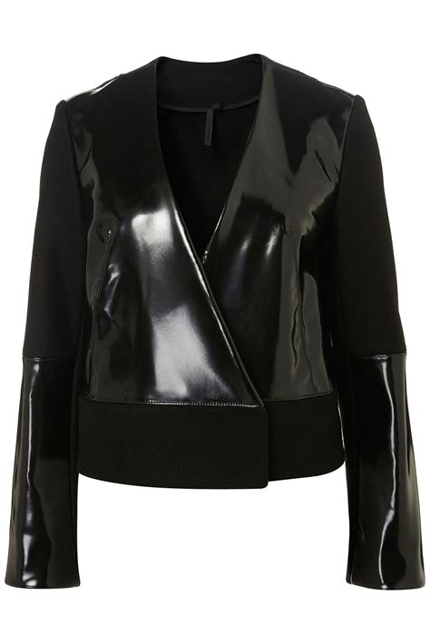 plastic jacket by boutique by topshop brands