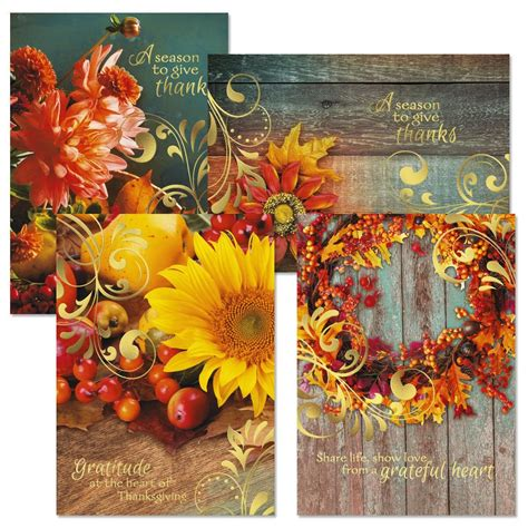 deluxe autumn photo thanksgiving cards current catalog - Thanks For Gift Card Sle